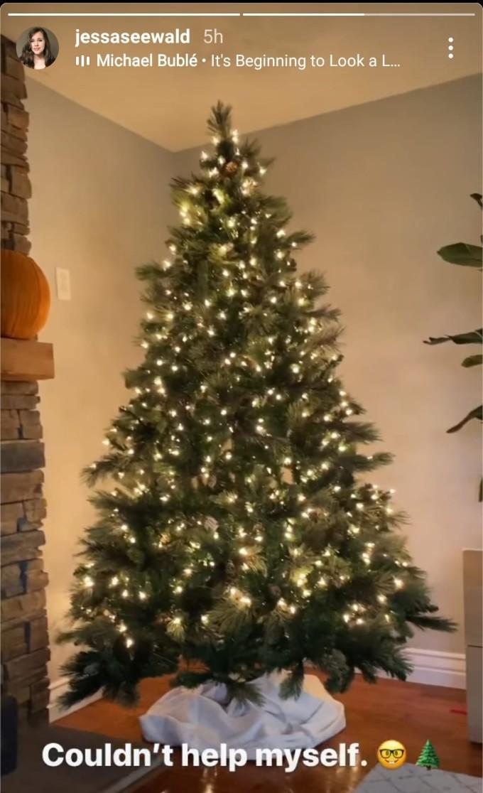 Jessa Duggar shared her Christmas tree is up.