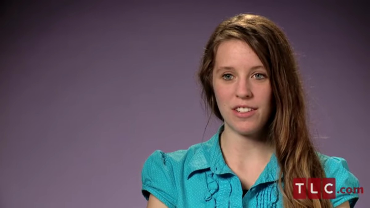 Jill Duggar in a 19 Kids and Counting confessional.
