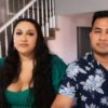 Kalani and Asuelu sit together during the 90 Day Fiance: Happily Ever After? Tell All but their marriage is rocky.