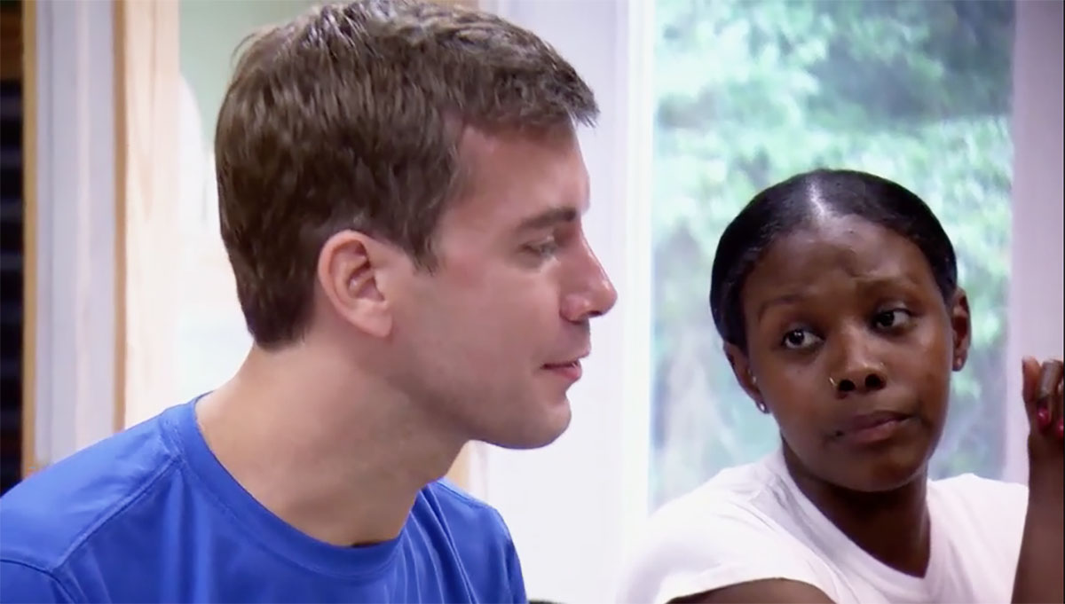 MAFS Season 11 Amani looking at Henry in disapproving manner
