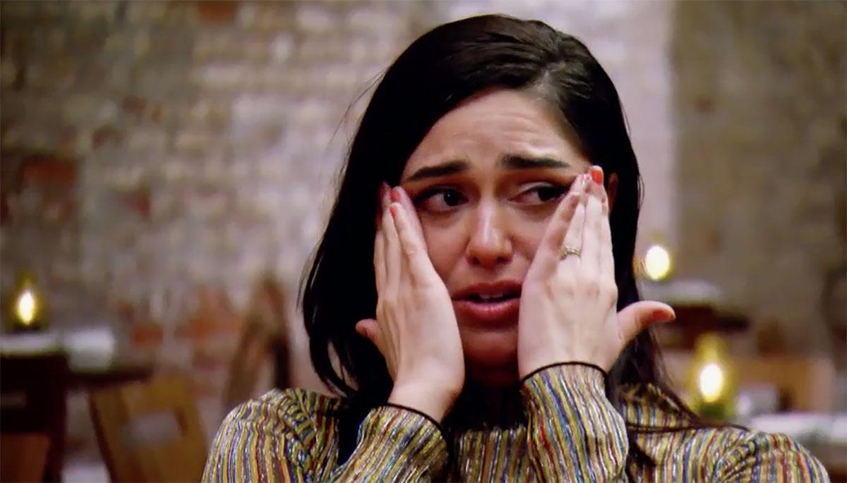 MAFS Christina crying at restaurant