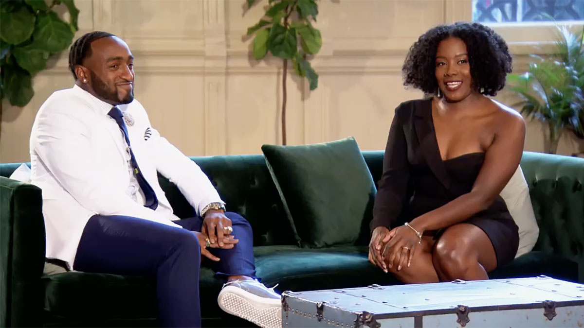 MAFS Season 11 couple Woody and Amani smiling together on decision day