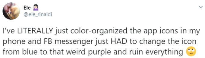 Messenger user complains about icon color change