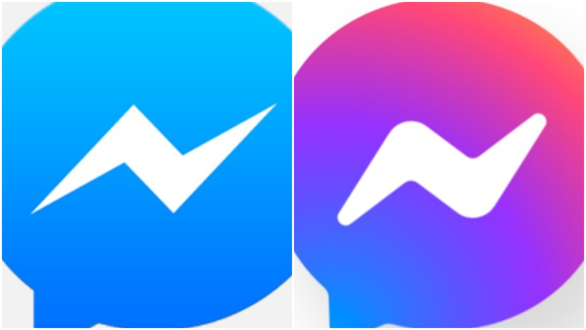 Facebook Messenger old and knew logos