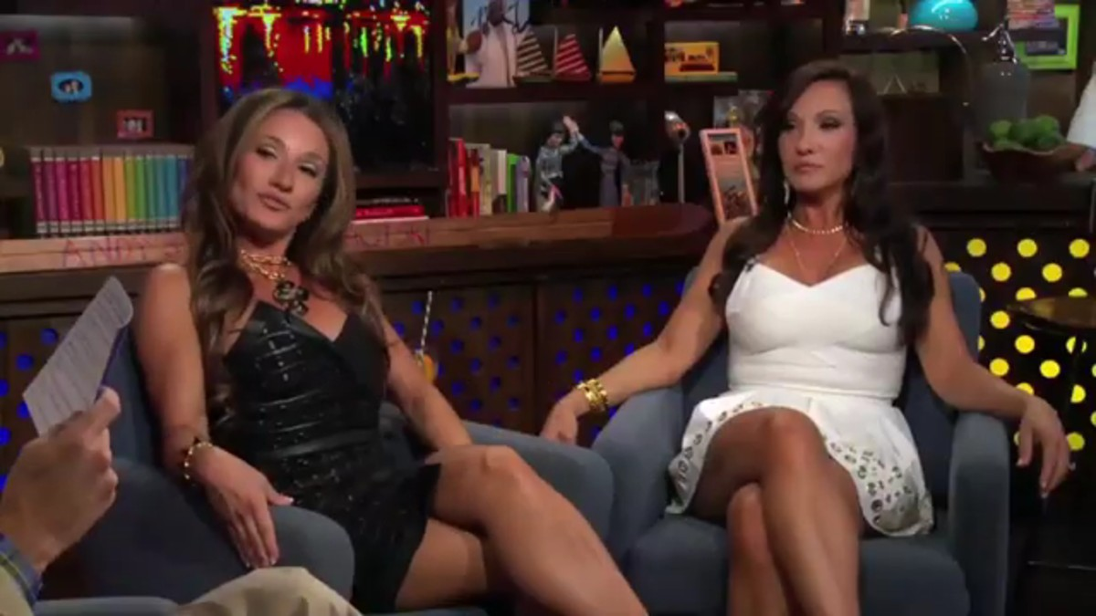 Nicole and Teresa on WWHL.