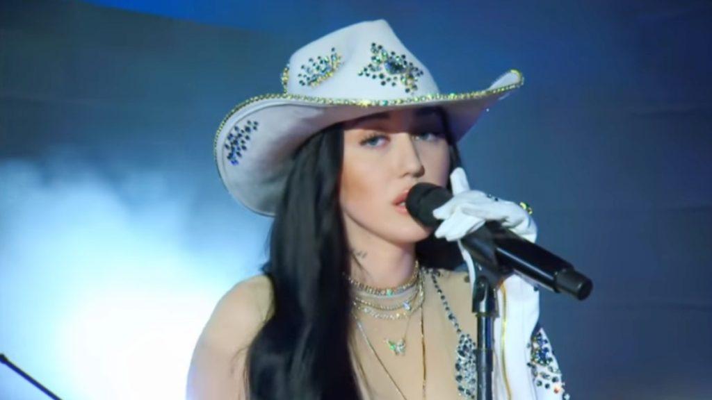 Noah Cyrus performs at CMT Awards
