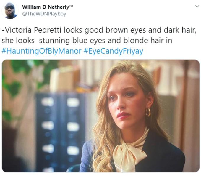 Praise on Twitter for Pendretti's eyes