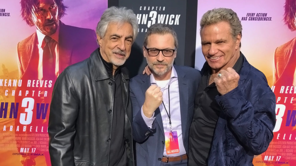 Pictured left to right: Joe Mantegna, Rick Krusky, Martin Kove. Courtesy: MWPR.