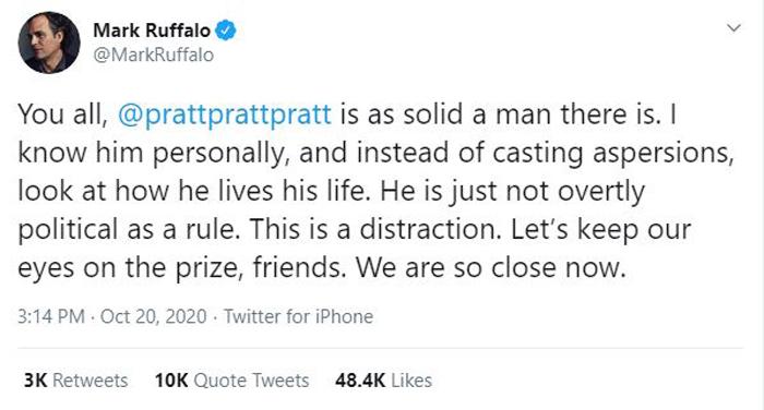 Mark Ruffalo on Twitter