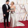 Actress Scarlett Johansson and Colin Jost