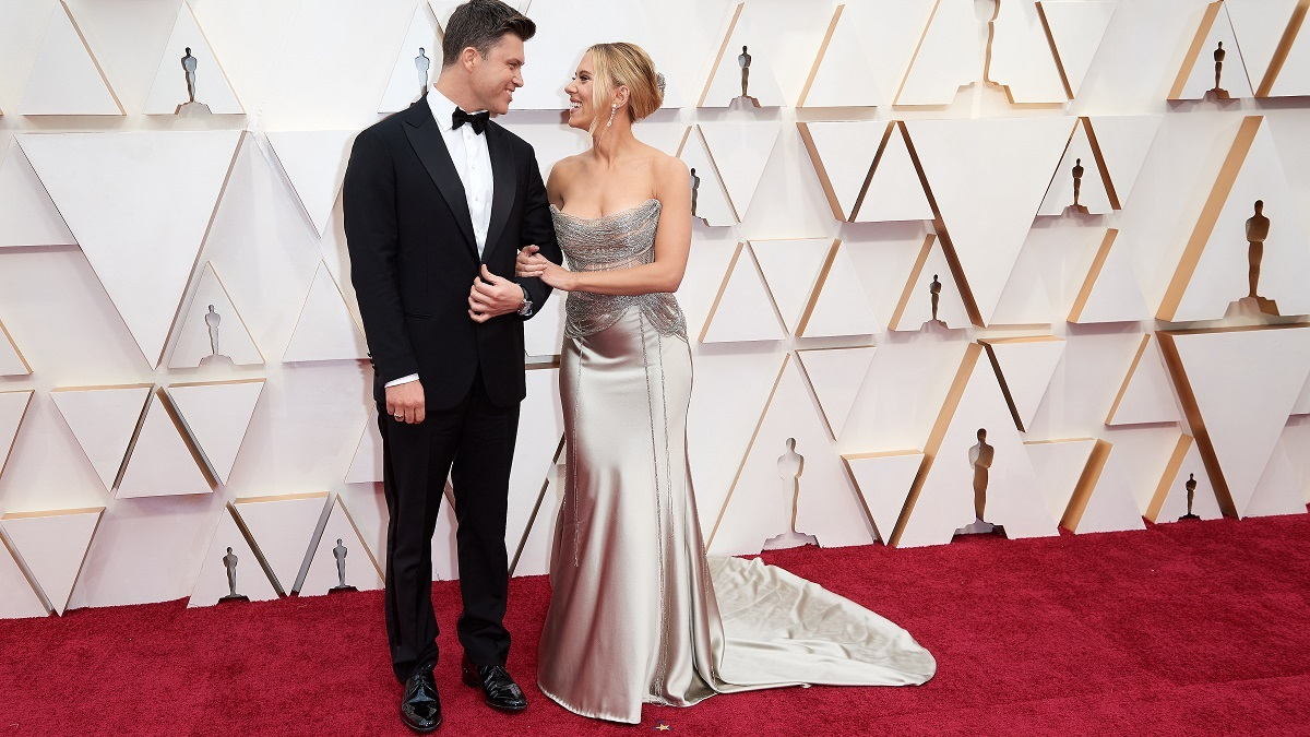 Actress Scarlett Johansson and Colin Jost