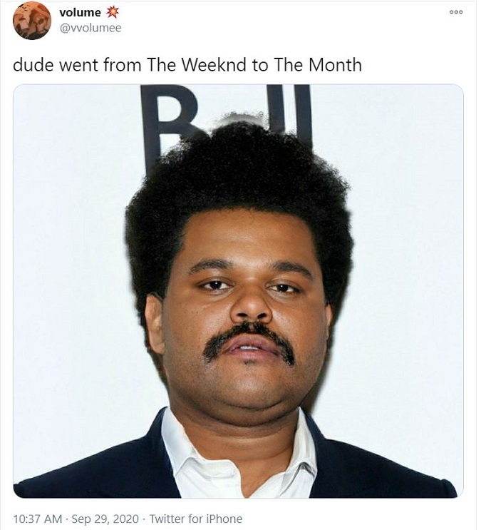 The Weeknd Photoshopped on Twitter