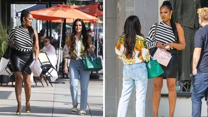 Kyle Richards and Garcelle Beauvais caught filming for RHOBH Season 11