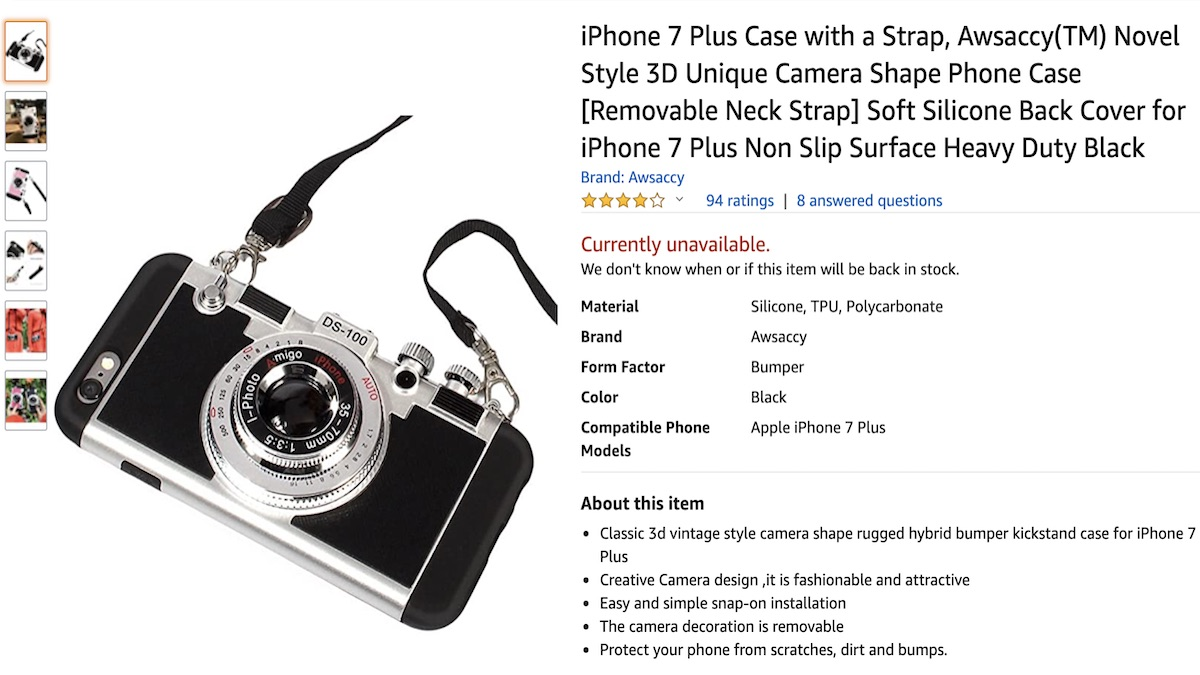 camera phone case at amazon