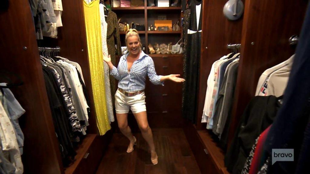 Elizabeth Vargas poses in her closet.