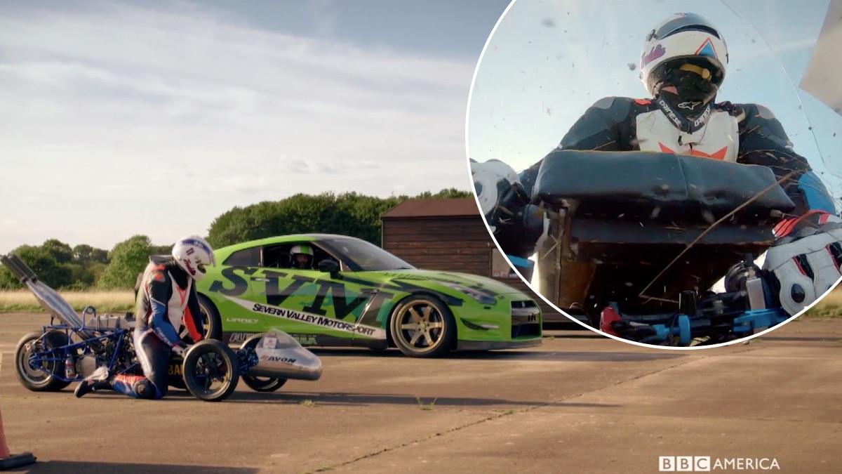 Freddie Flintoff during his crash on Top Gear