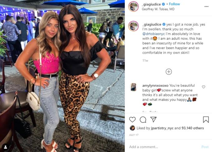 Gia Giudice with Teresa at an event