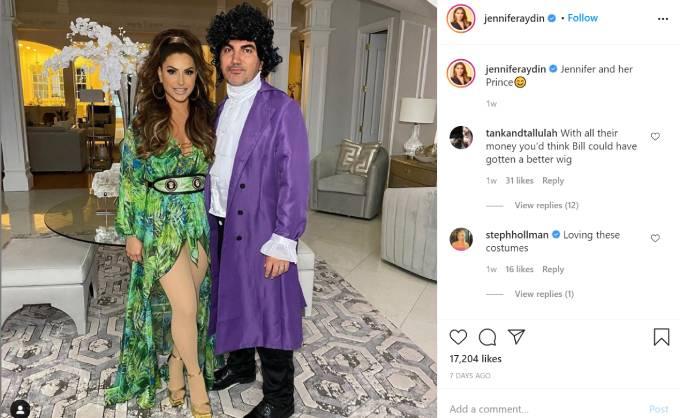 Jennifer Aydin dresses up as J-Lo for Halloween.