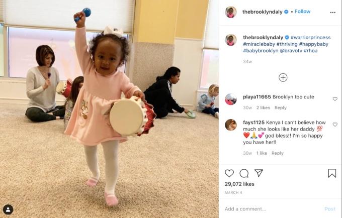 Kenya Moore's daughter Brooklyn Daly plays the drums