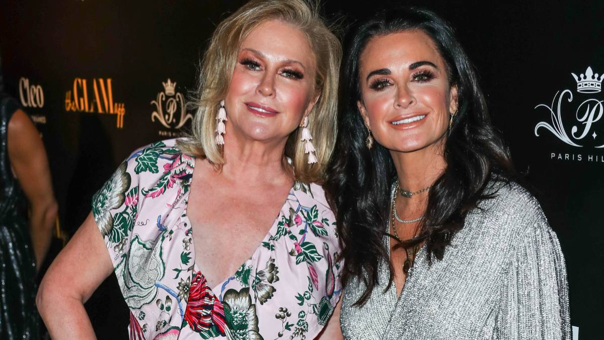 Kathy Hilton and Kyle Richards arrive at The Glam App Los Angeles Launch Party held at Cleo Hollywood.