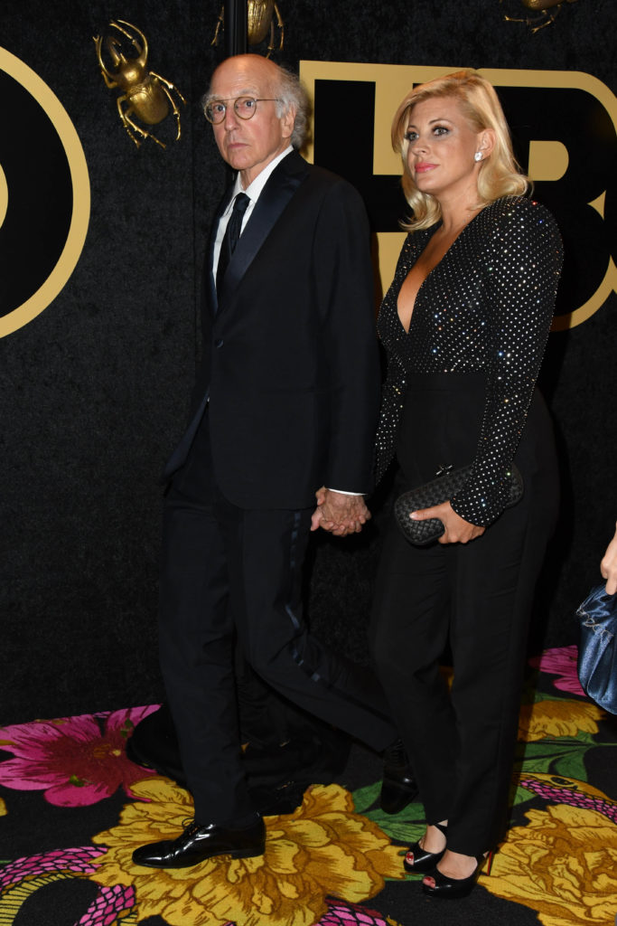 Larry David and Ashley Underwood at the 2018 Emmy Party