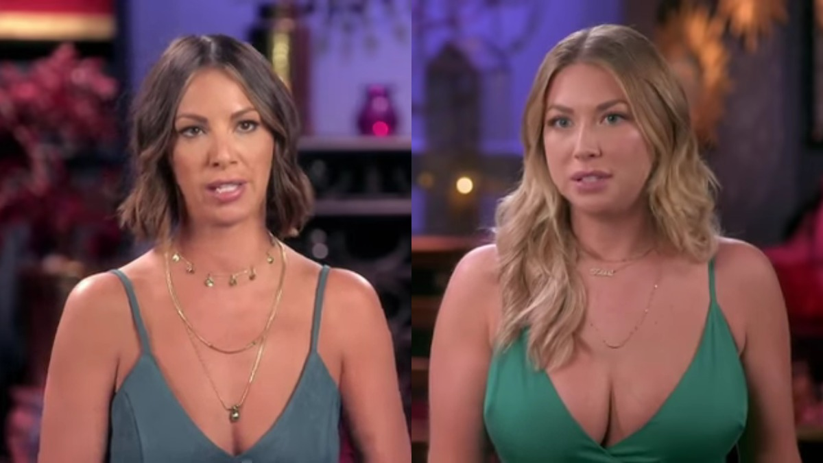 Kristen Doute and Stassi Schroeder in Vanderpump Rules confessionals.