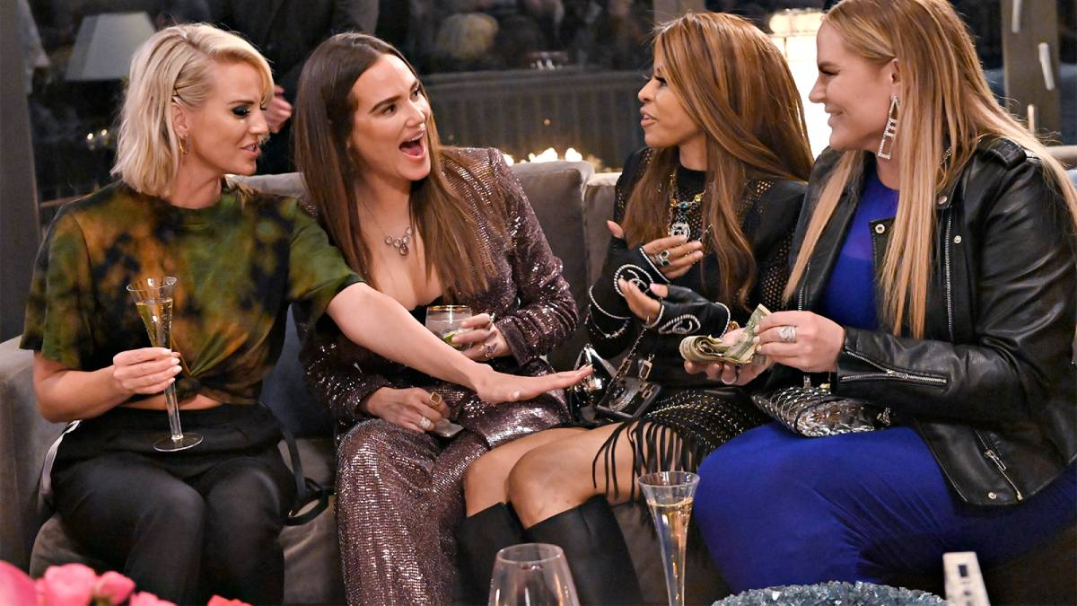 Whitney Rose, Meredith Marks, Mary Crosby and Heather Gay sit and chat excitedly.