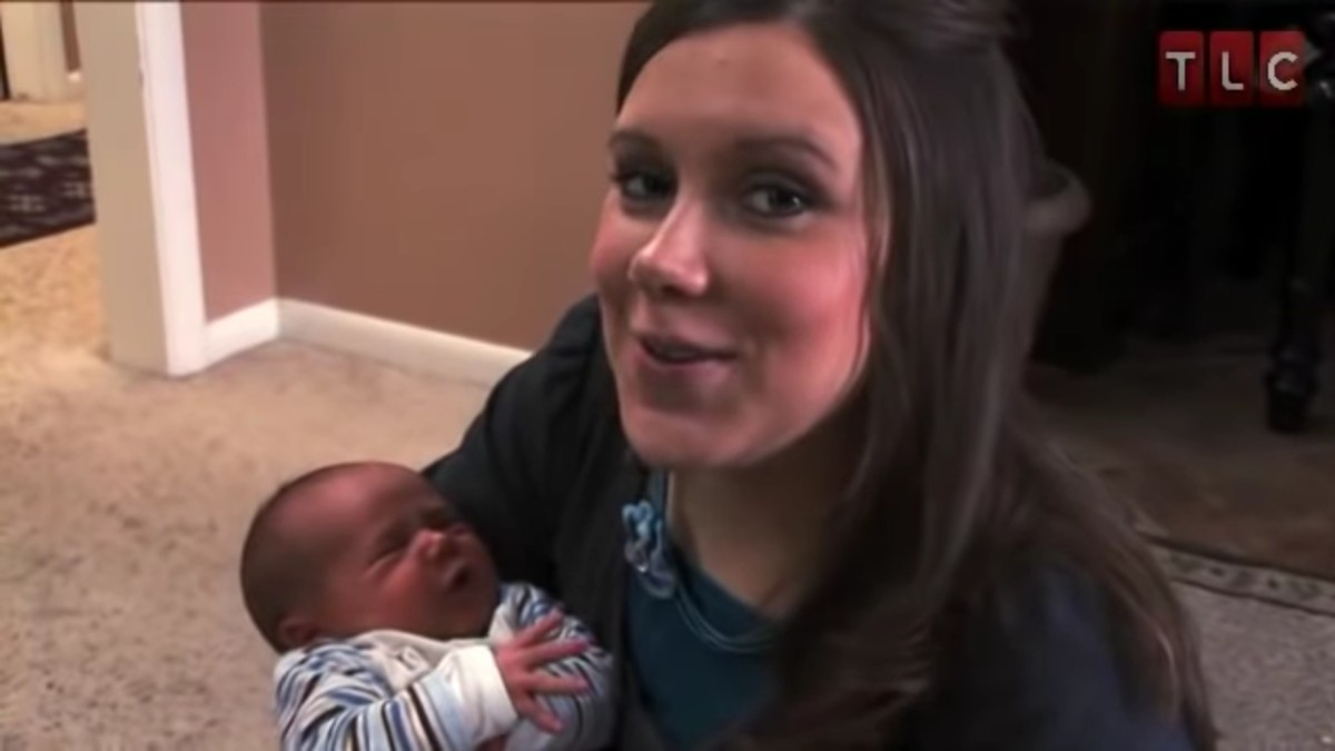 Anna Duggar and baby Michael.