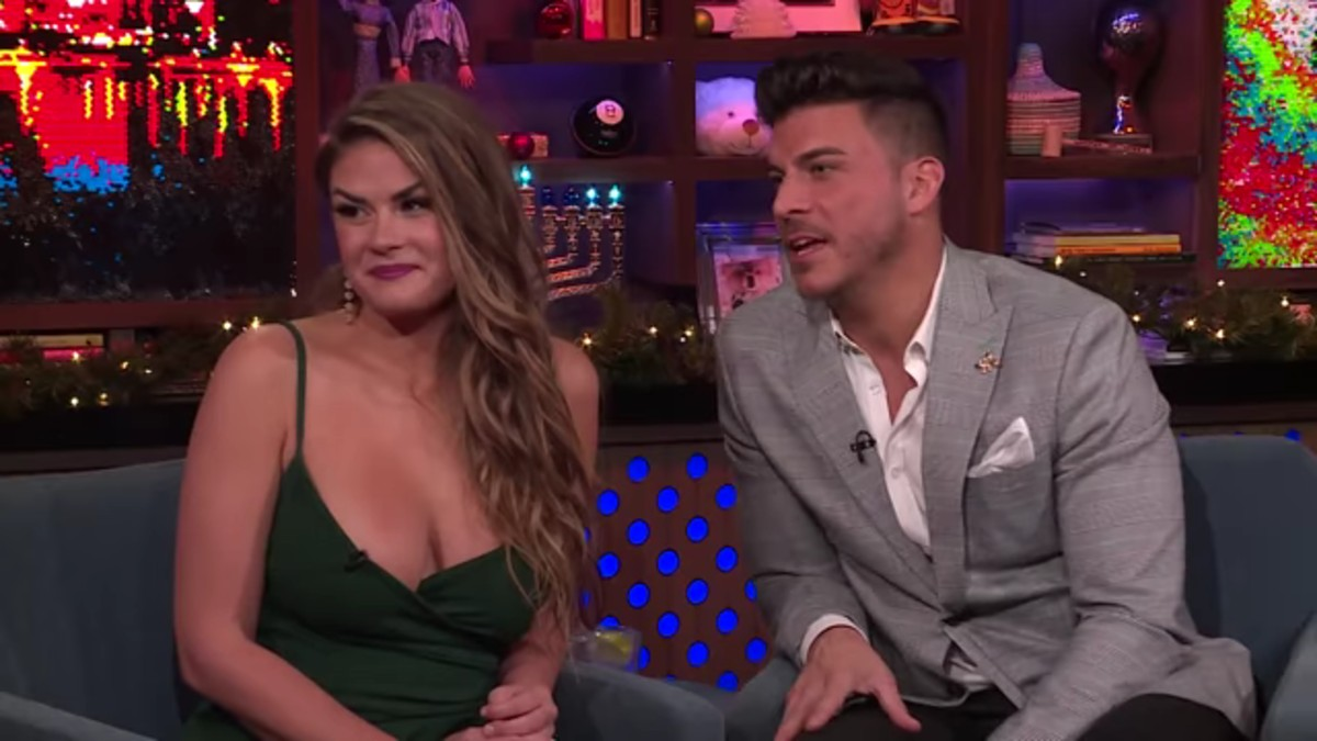 Brittany and Jax on WWHL.