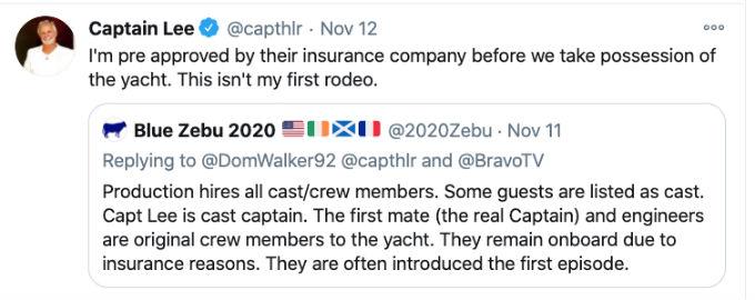 Captain Lee Tweets back at troll