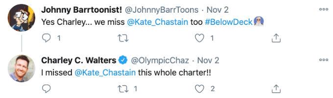 Below Deck charter guest talks missing Kate on Below Deck.