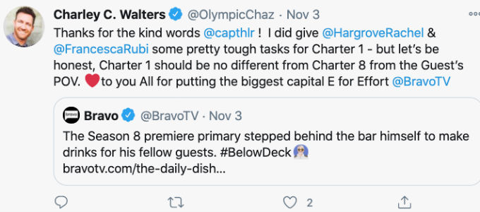 Charley admits he was a demanding guest