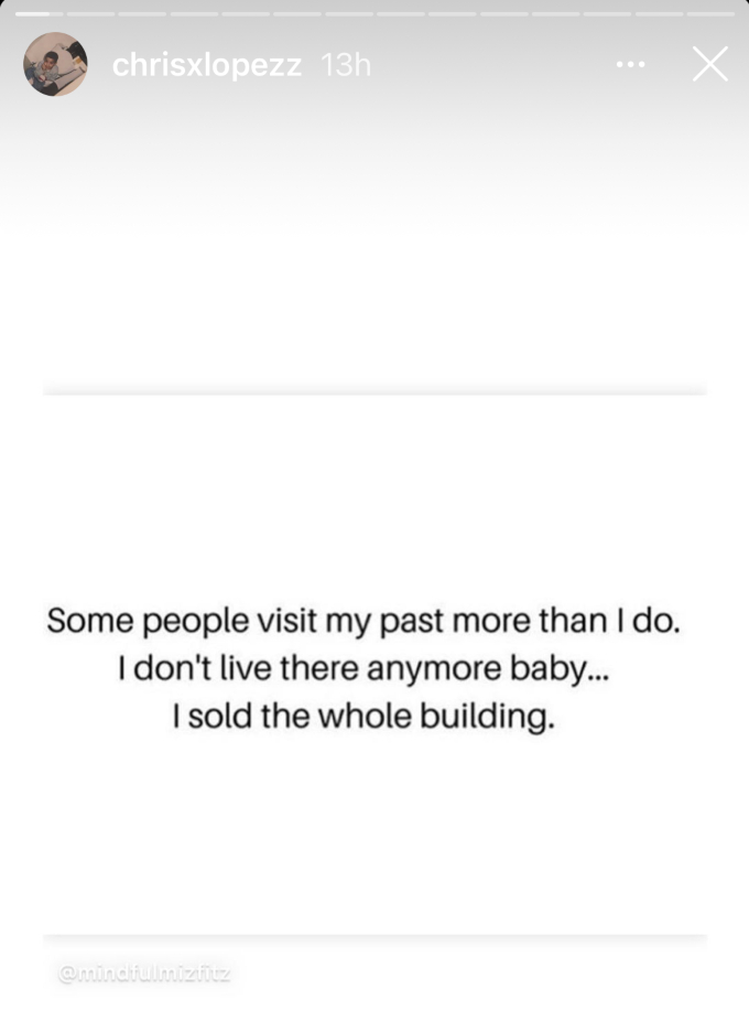 Chris Lopez posts another cryptic message on his social media