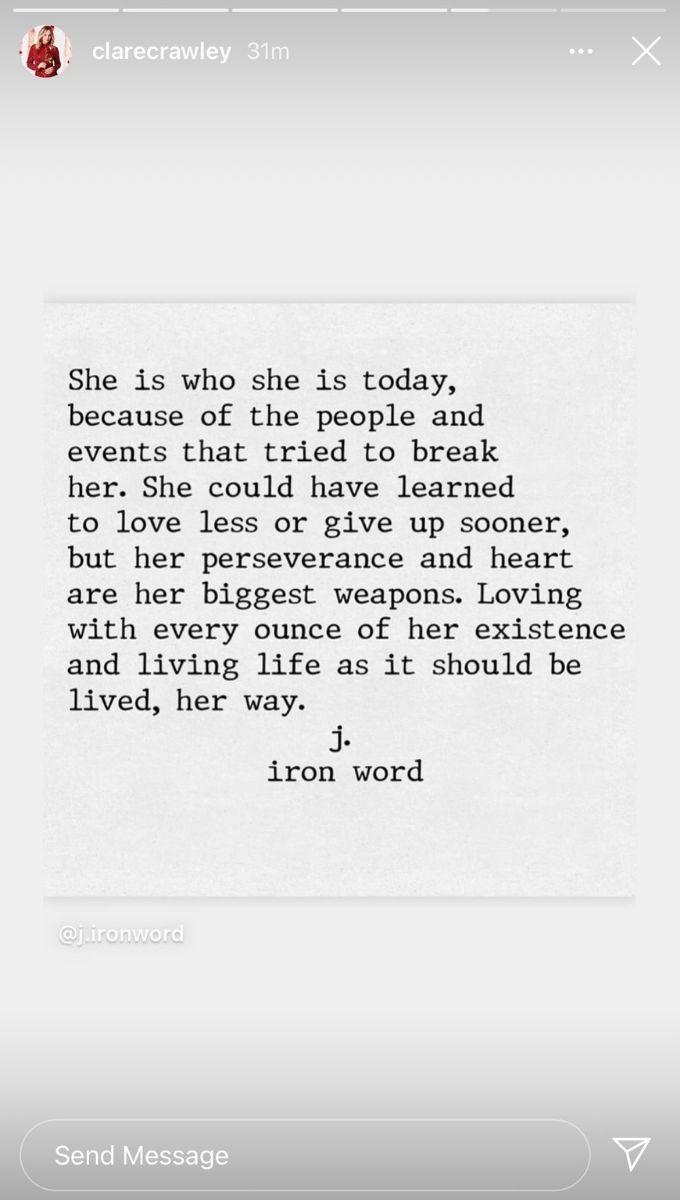Clare quote