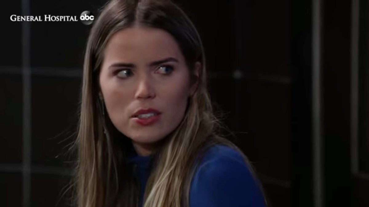 Sofia Mattsson as Sasha on General Hospital.