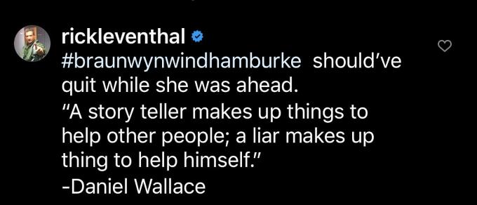 Rick Leventhal responds to Braunwyn Windham-Burke