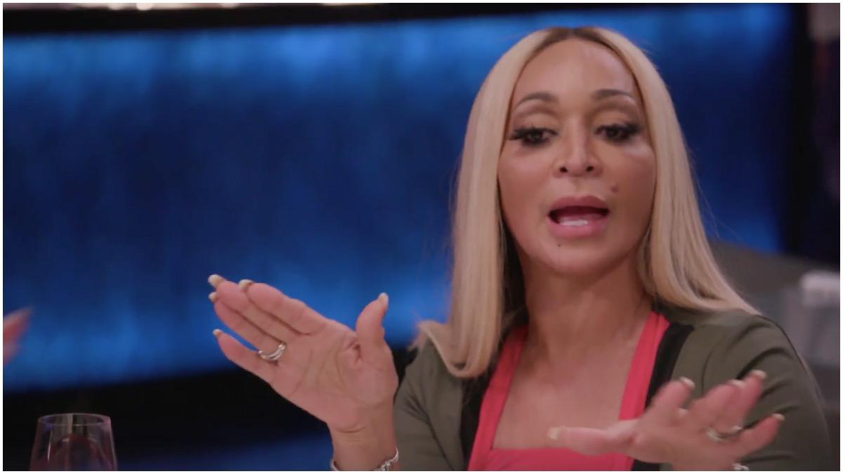 Karen confronts Gizelle on the RHOP.