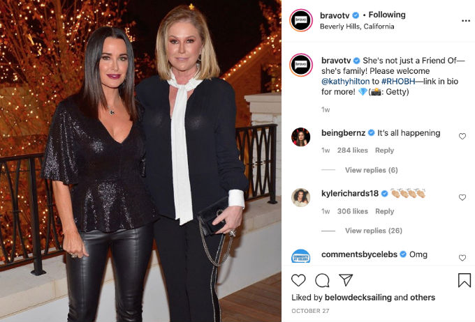 Kathy Hilton joins The Real Housewives of Beverly Hills.