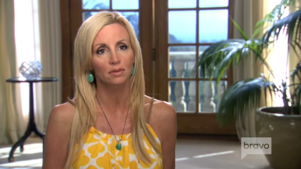 Camille in a RHOBH confessional.
