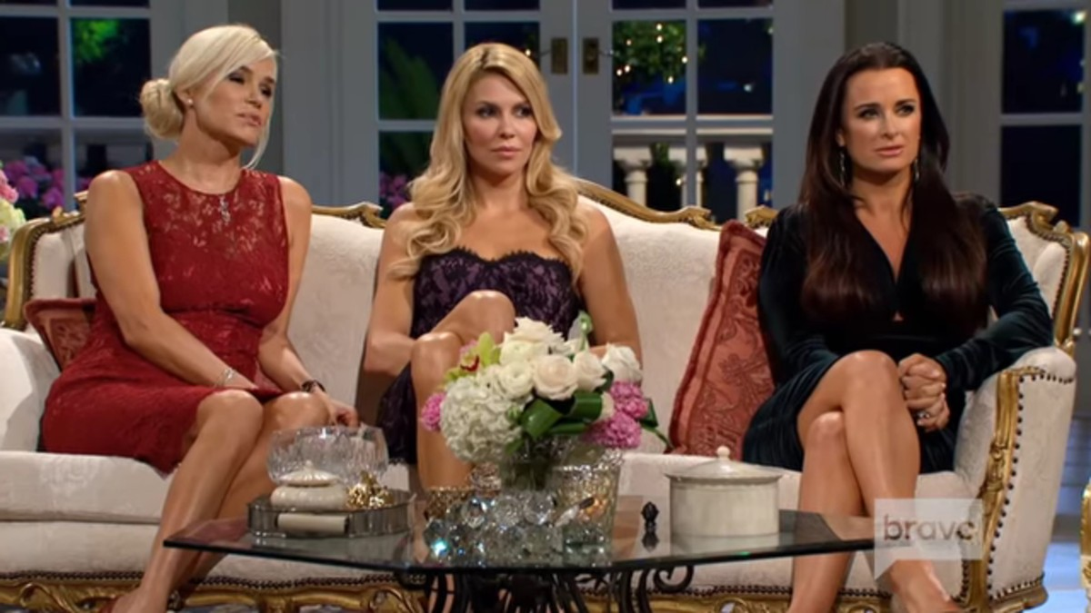 Yolanda, Brandi, and Kyle at a RHOBH reunion.