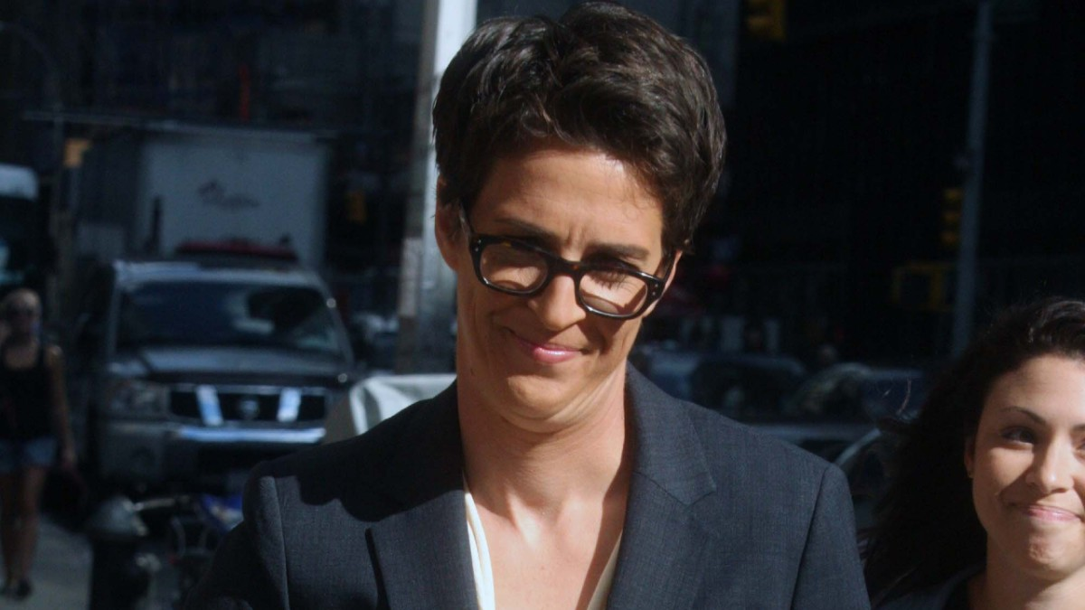 Rachel Maddow pictured on a New York street