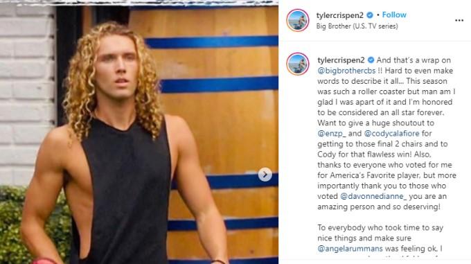 Tyler Instagram Retirement