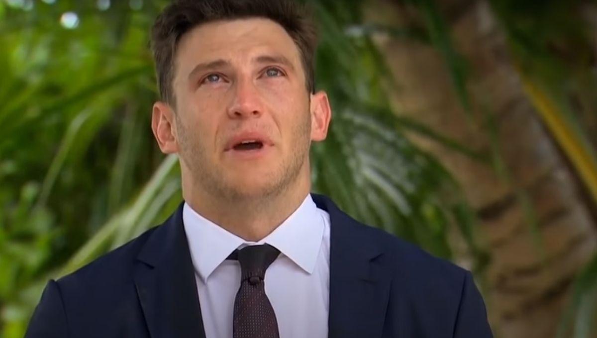 Blake Horstmann crying