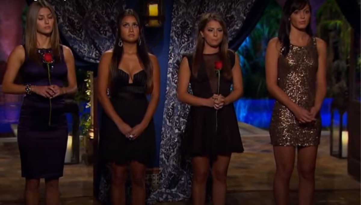 Sean Lowe's final four girls stand in a line