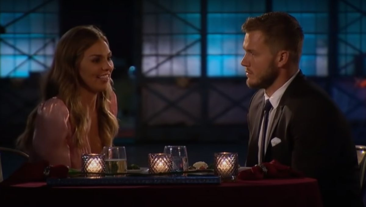 Hannah Brown and Colton Underwood have dinner together on The Bachelor
