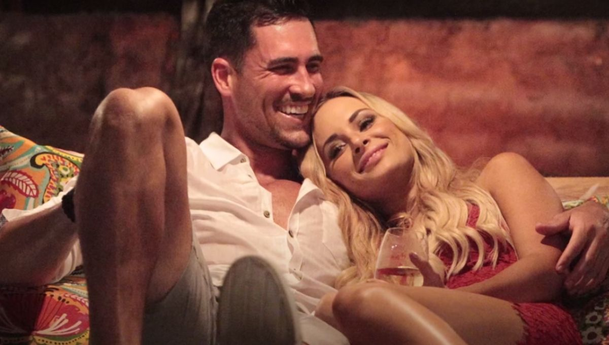 Josh Murray and Amanda Stanton lay together outside on Bachelor in Paradise