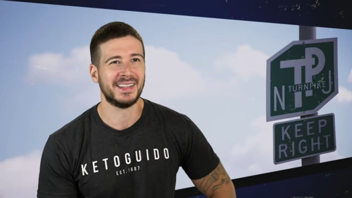Vinny Guadagnino during an episode of Jersey Shore Family Vacation