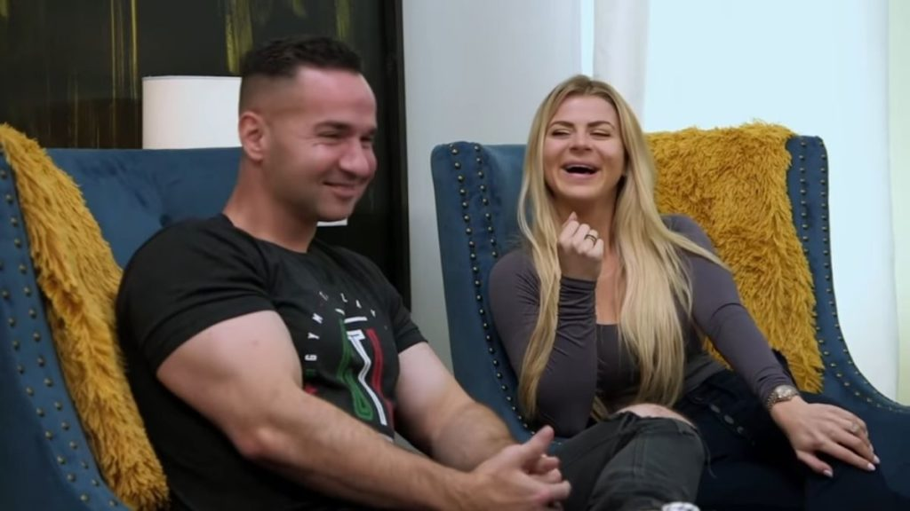 Mike and Lauren Sorrentino during an episode of Jersey Shore Family Vacation