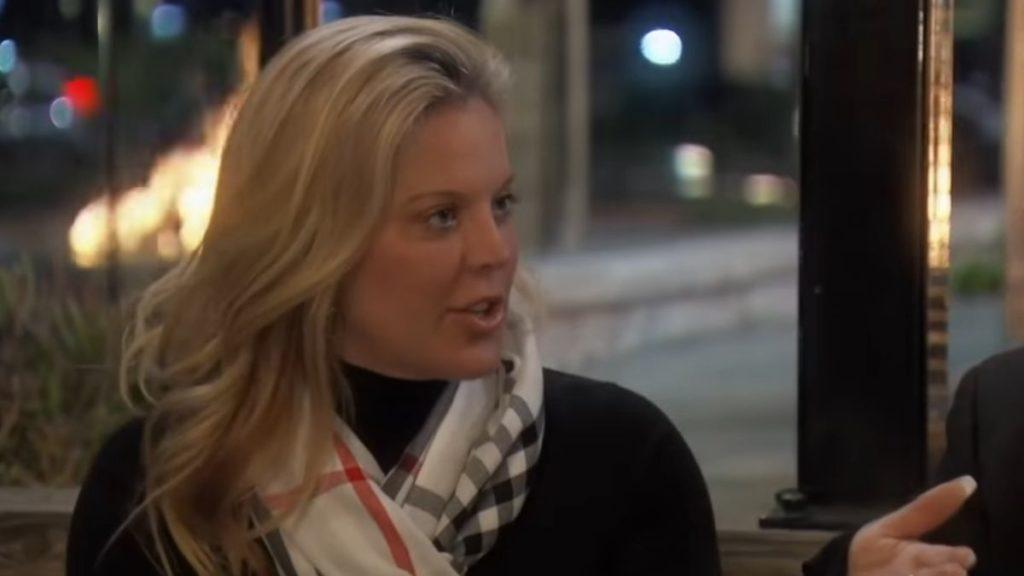 Elizabeth Vargas during a recent episode of RHOC