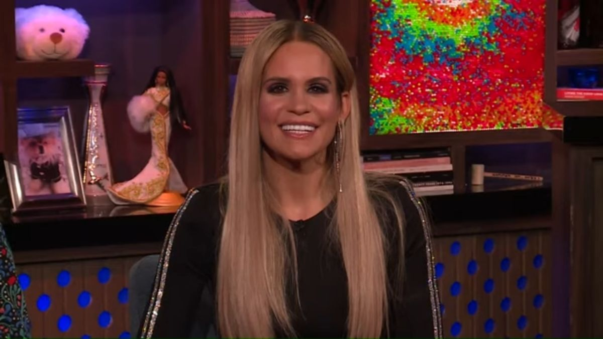 Jackie Goldschneider during an episode of Watch What Happens Live with Andy Cohen